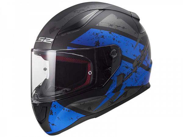 Mopedhjälm - LS2 FF353 Rapid Deadbolt, matt svart / blå