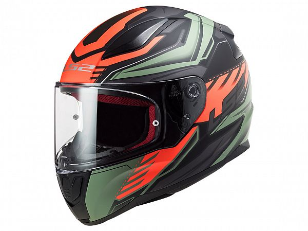 Mopedhjälm - LS2 FF353 Rapid Gale, mattgrön / fluo orange