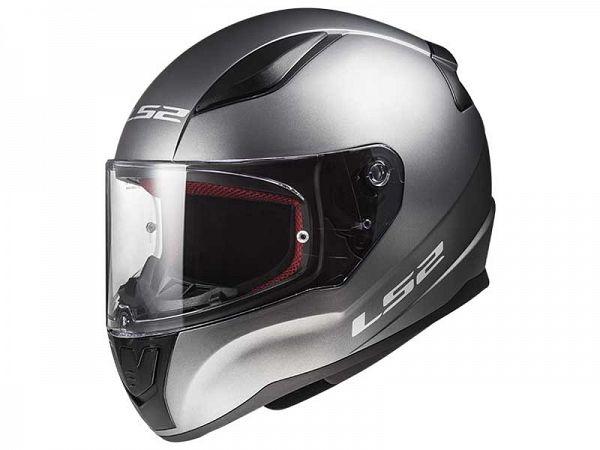Mopedhjälm - LS2 FF353 Rapid Single Mono med titan - inkl. valfritt visir