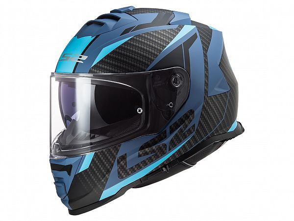 Mopedhjälm - LS2 FF800 Storm Racer, mattblå