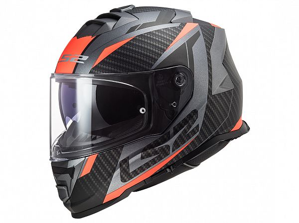 Mopedhjälm - LS2 FF800 Storm Racer, titan / fluo orange
