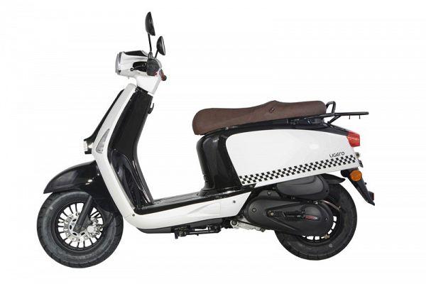 MOTOCR Ligero 50 4T Euro4 - Sort/hvid - 45 km/t
