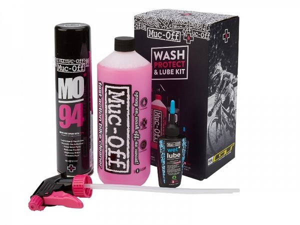 Muc-Off Wash, Protect, Lube Kit