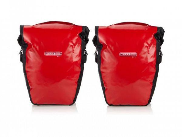 Ortlieb Back-Roller City QL1 rødt Sidetaskesæt, 40L