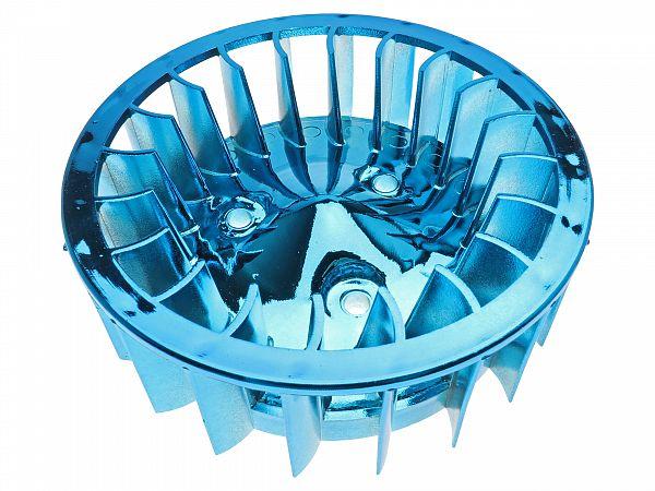 Oversize fan wheel for ignition, blue