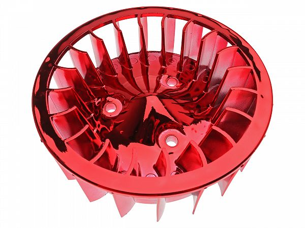 Oversize fan wheel for ignition, red