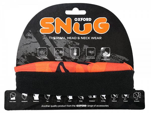 Oxford Snug Havoc Orange Throat Tube