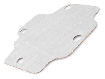 Pakning ved plade i ventildæksel