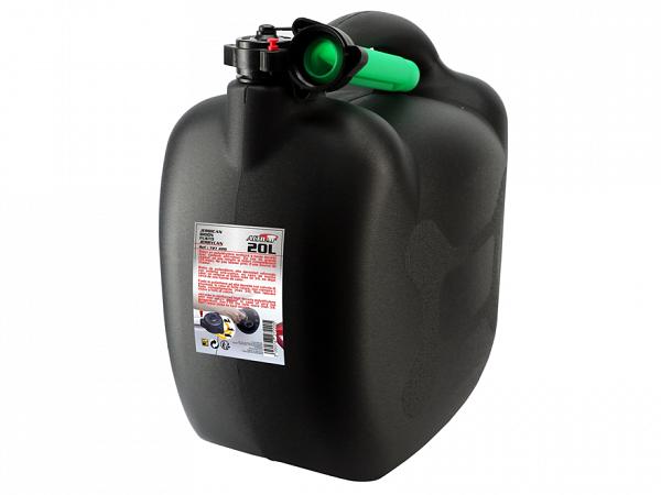Petrol can 20L, black