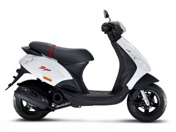 Piaggio New Zip Euro4 4-takt 3V - hvid - 30 km/t