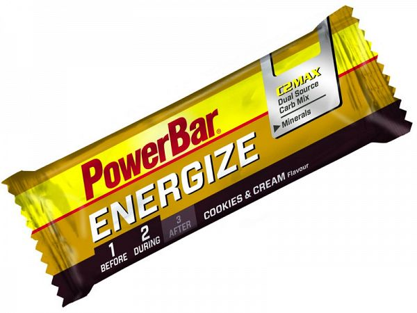 PowerBar Energize Cookies and Cream Energibar, 55g