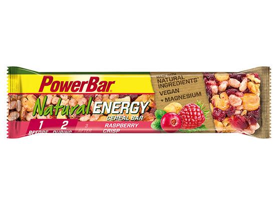 PowerBar Natural Energy Raspberry Cereal Bar, 40g (Udløber 09. 2018)