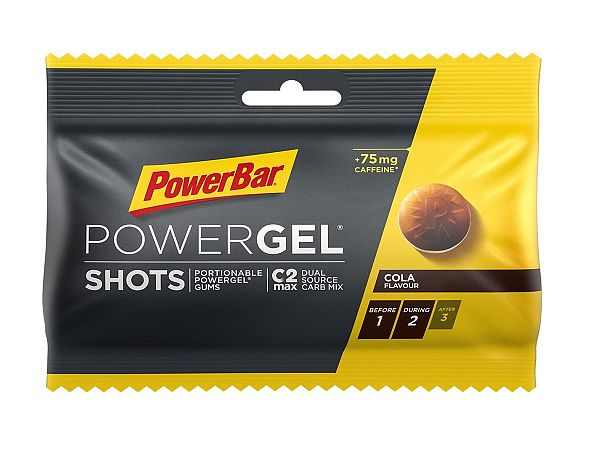 PowerBar PowerGel Caffeine Cola Wine Gummies, 9 pcs