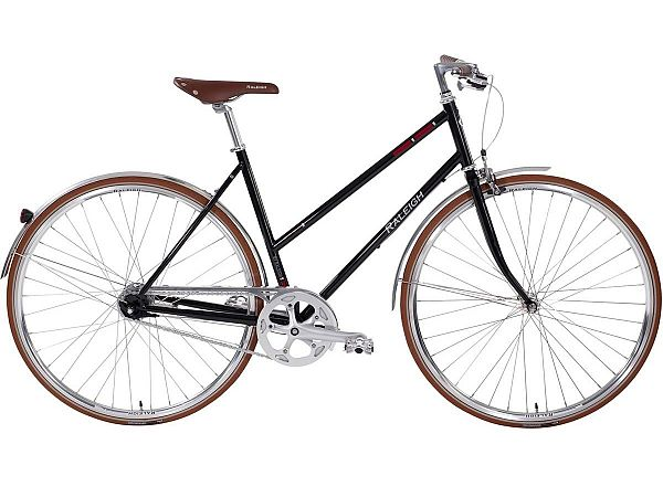 Raleigh Kent 7 sort - Damecykel - 2019