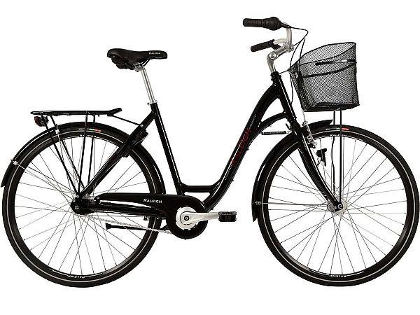 Raleigh Shopping Alu sort - Damecykel - 2019