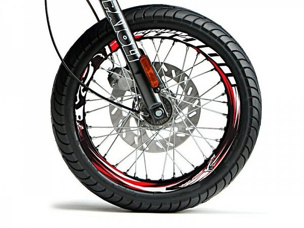 Rim stickers - Voca Racing, red / white / black