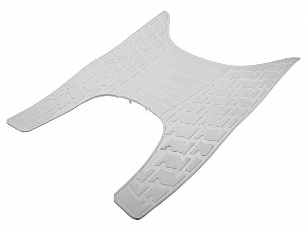 Rubber mat by foot plate, white