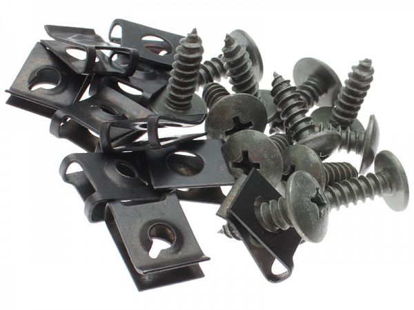 Screw / clip set - 20 parts