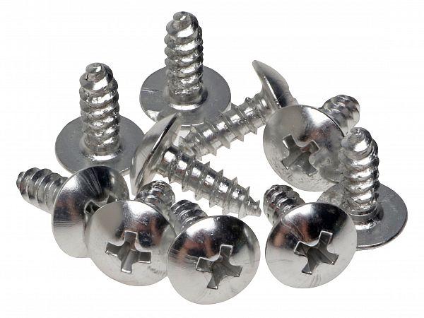 Screw set for shields 4 x 12mm, alu