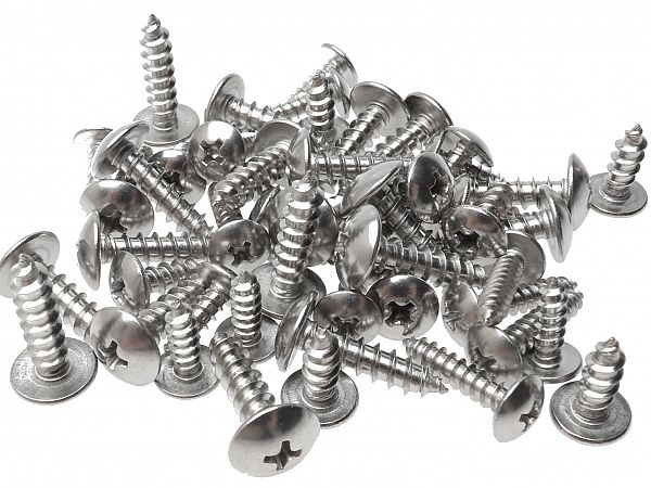 Screws for shields, alu - 50 pcs.