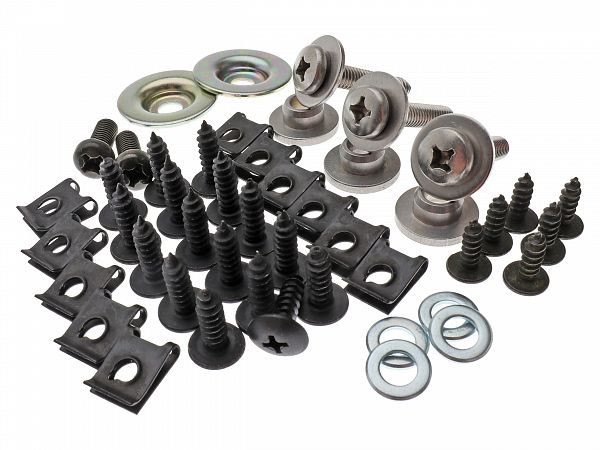 Shield kit screw set, complete
