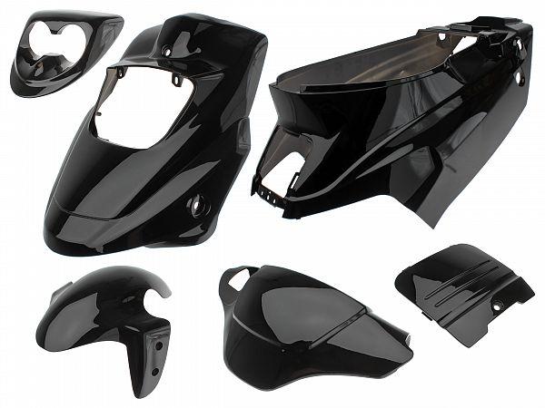 Shield set - Black, 6 parts