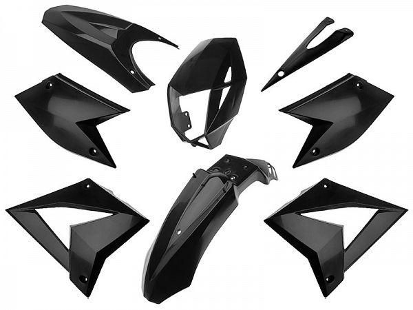 Shield set - Black, 8 parts - TNT