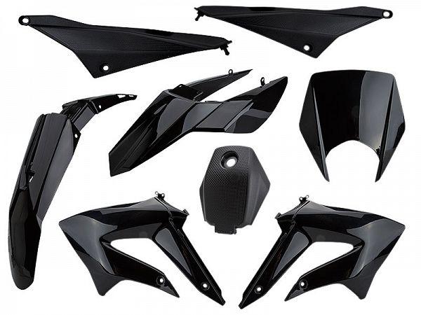 Shield set - Black, 8 parts - TunR