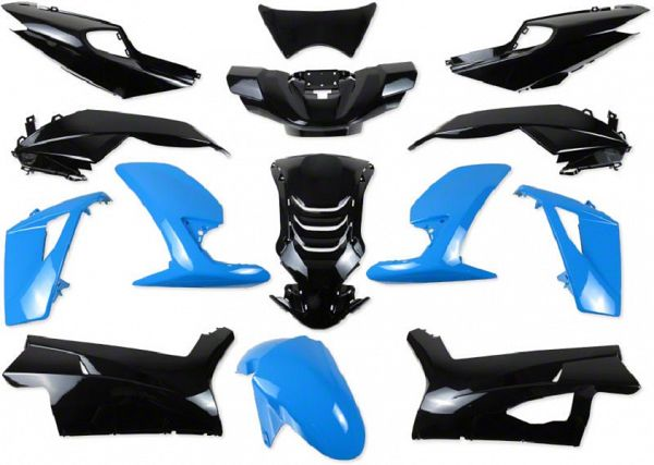 Shield set - Blue / black, 14 parts