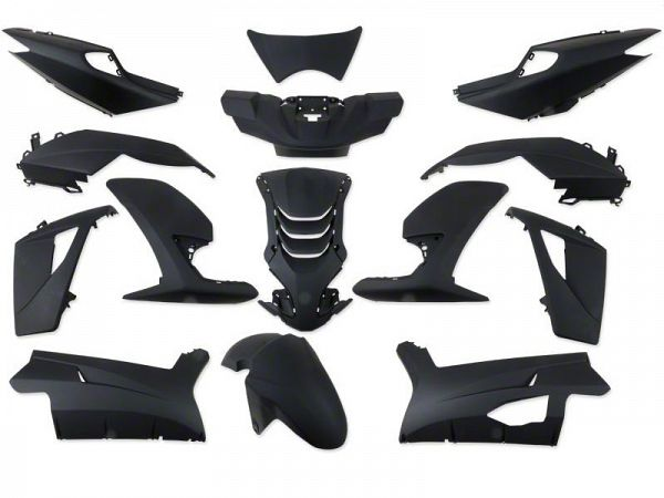 Shield set - Food black, 14 parts