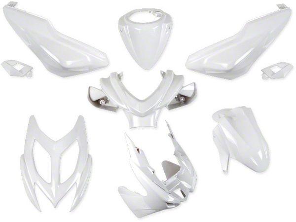 Shield set - Glossy white, 9 parts