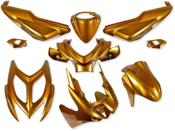 Shield set - Gold, 9 parts