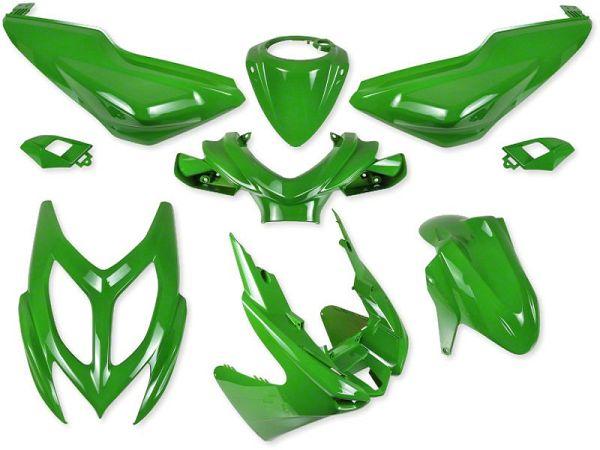 Shield set - Kawasaki green, 9 parts