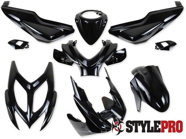 Shield set - Metal black, 9 parts