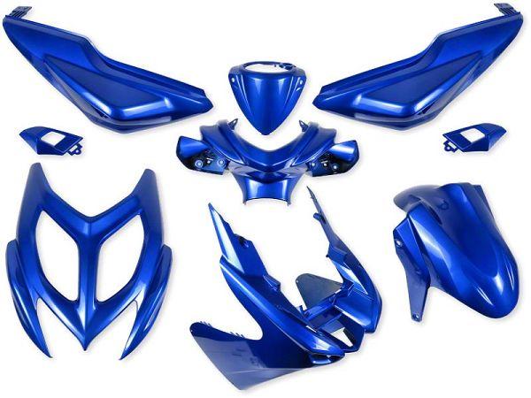 Shield set - Metal blue, 9 parts