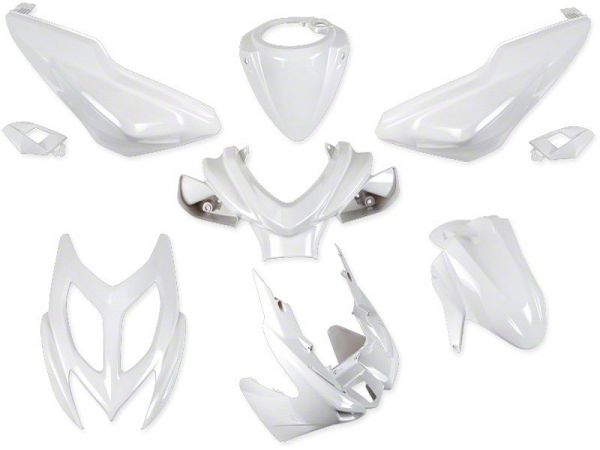 Shield set - Mother of pearl white, 9 parts