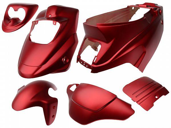Shield set - Satin red