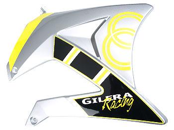 Sidepanel ved tank, højre - sort/gul - originalt