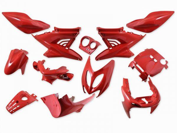 Skjoldsæt - Ferrari rød, 12 dele