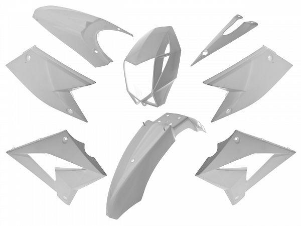 Skjoldsæt - Hvid, 8 dele - TNT