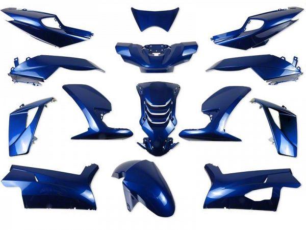 Skjoldsæt - Metalblå