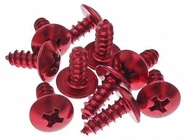 Skruesæt til skjolde 4 x 12mm, rød