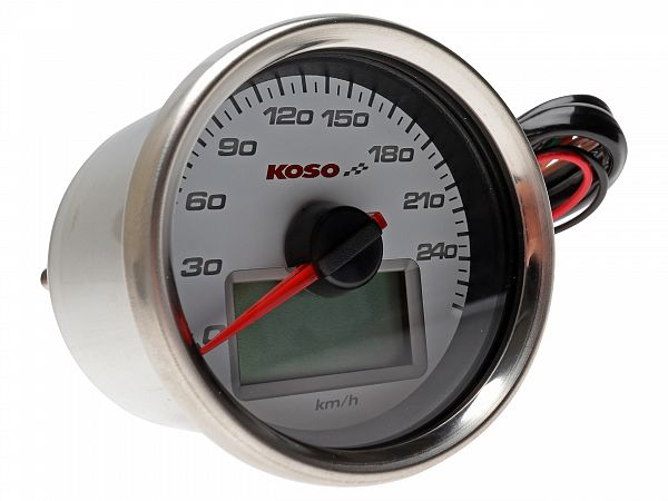 Speedometer - Koso GP Style white