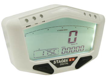 Speedometer - Stage6 Digital universal, hvid