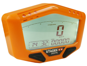 Speedometer - Stage6 Digital universal, orange
