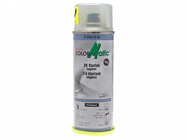 Spray paint - ColorMatic 2K clear clearcoat 200ml