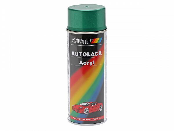Spray paint - MoTip Autoacryl, metallic green
