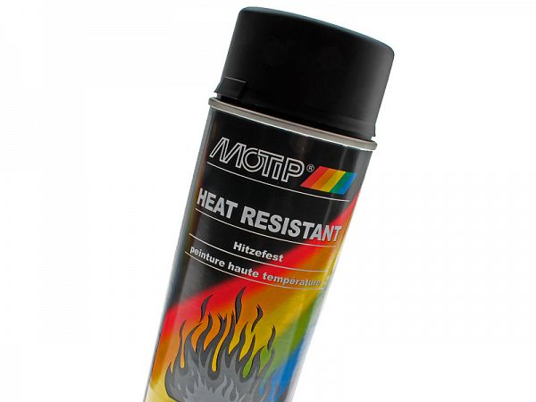 Spray paint - MoTip Black Heat resistant - 800º
