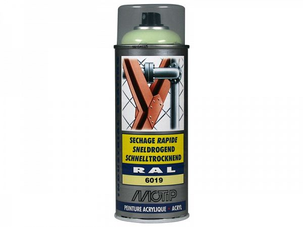Spray paint - MoTip Ral, 6019 high gloss white green, 400ml