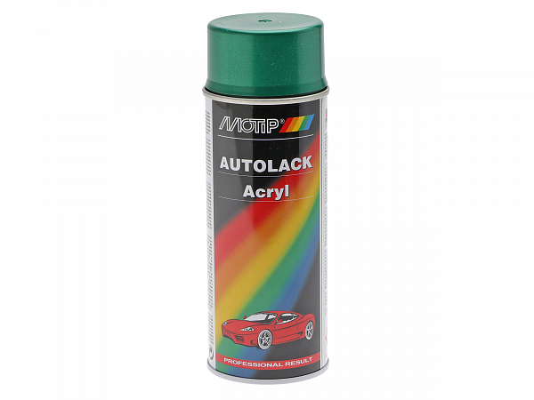 Spraymaling - MoTip Autoacryl, metallic grøn